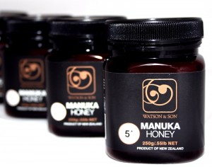 Jarred manuka honey